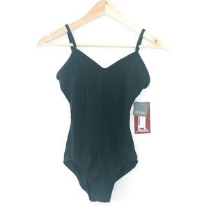 NWT Mirella Black Body Suit/ Leotard